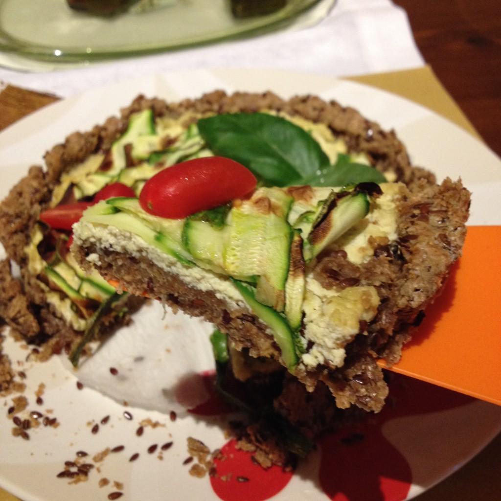 crostata di zucchine vegana
