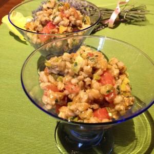 insalata di farro alle verdure
