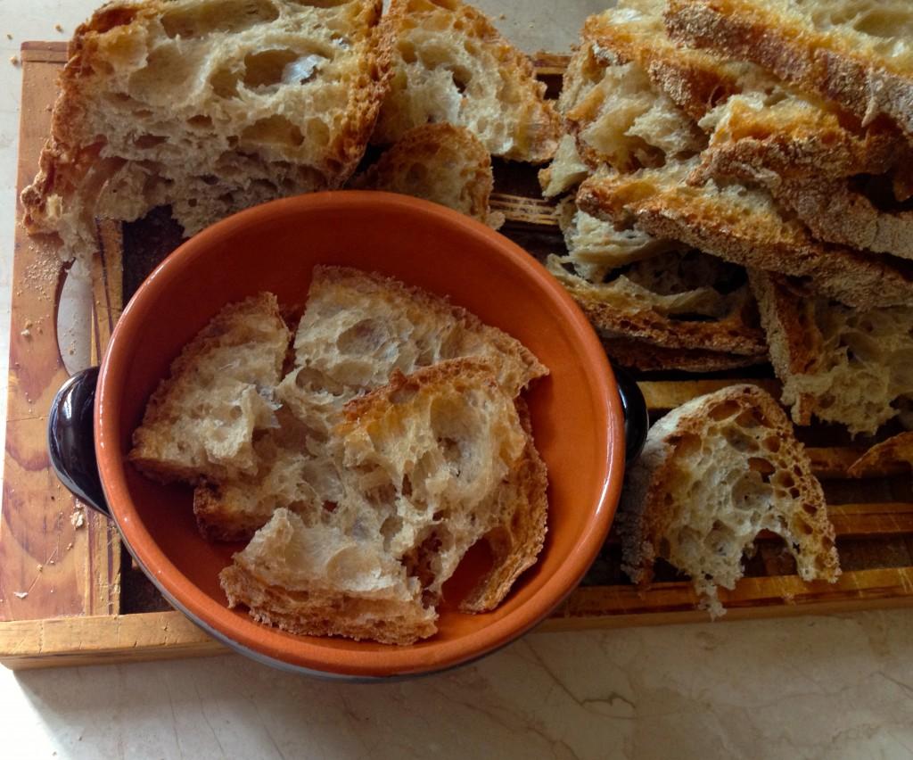 zuppa di cipolle- pane