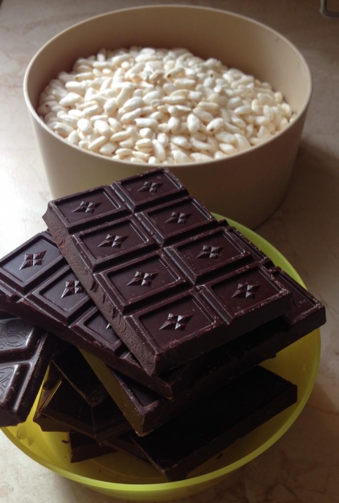 riso soffiato e cioccolato