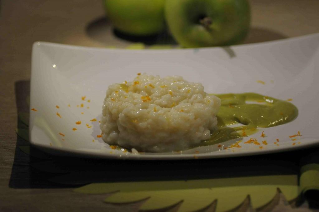 risotto mele verdi
