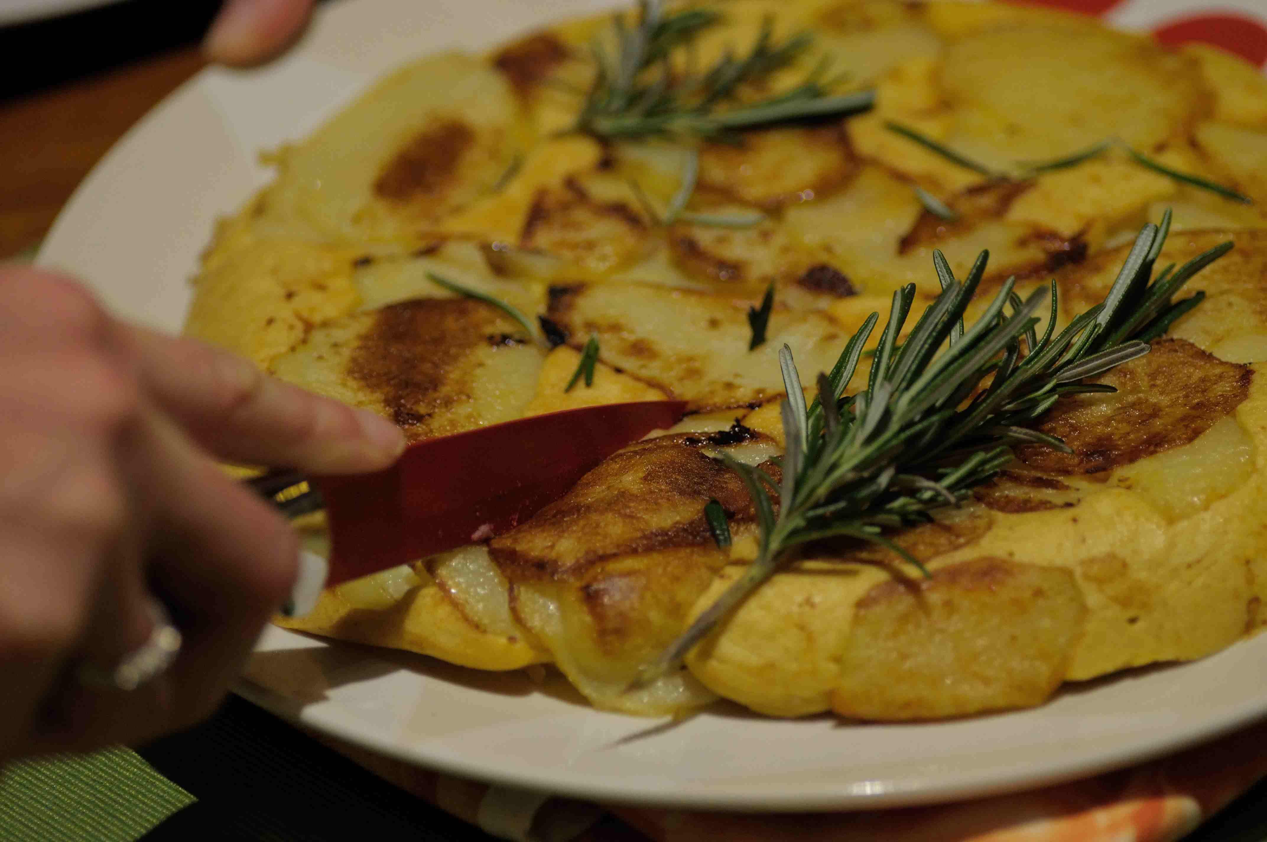 frittata con farina di ceci