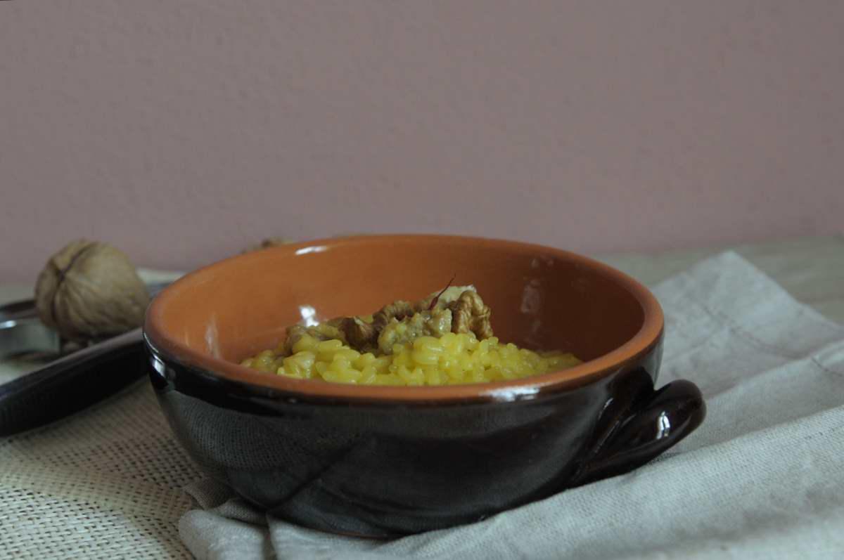 risotto zafferano e salsiccia