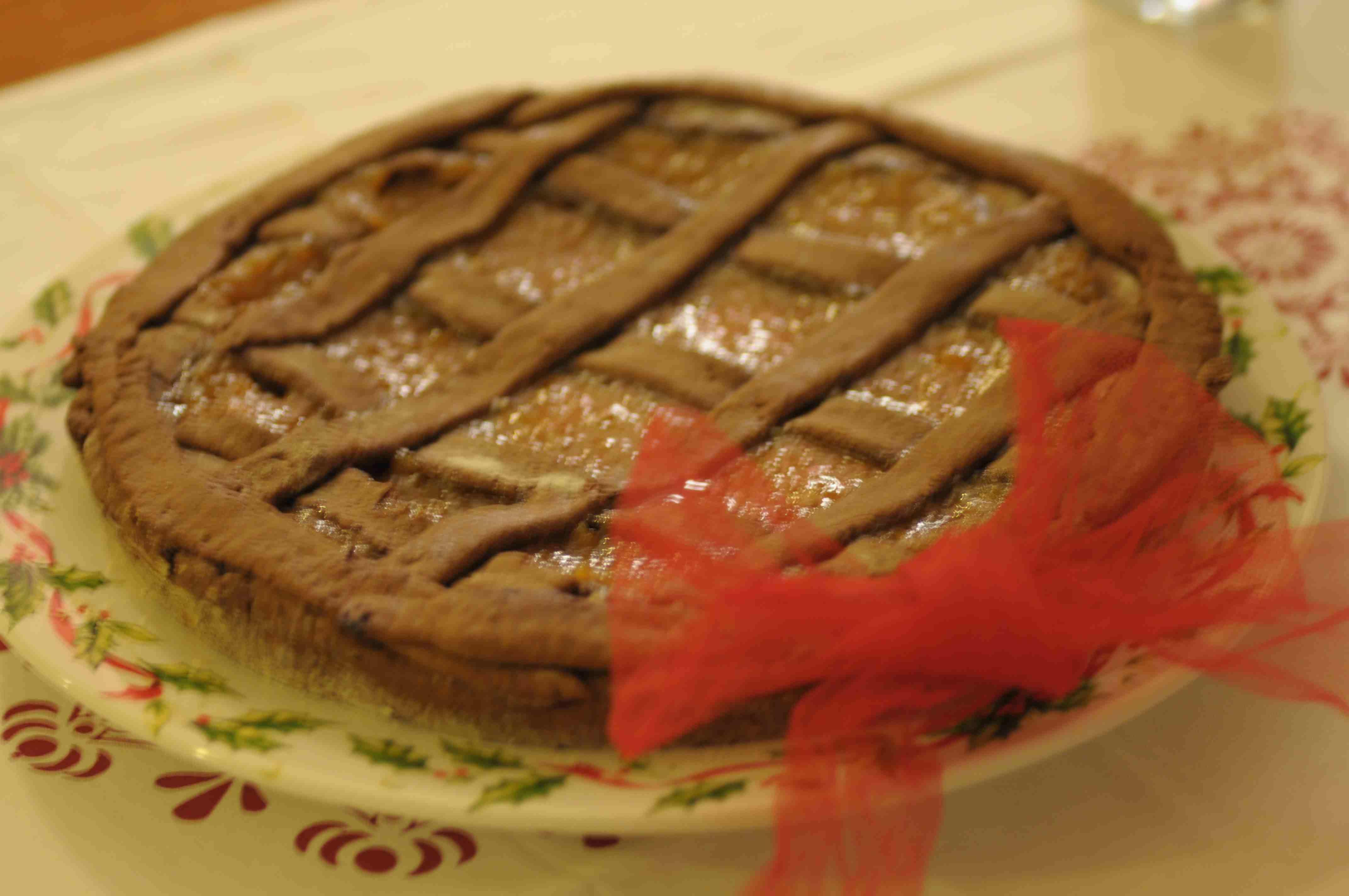crostata vegan con marmellata di cachi