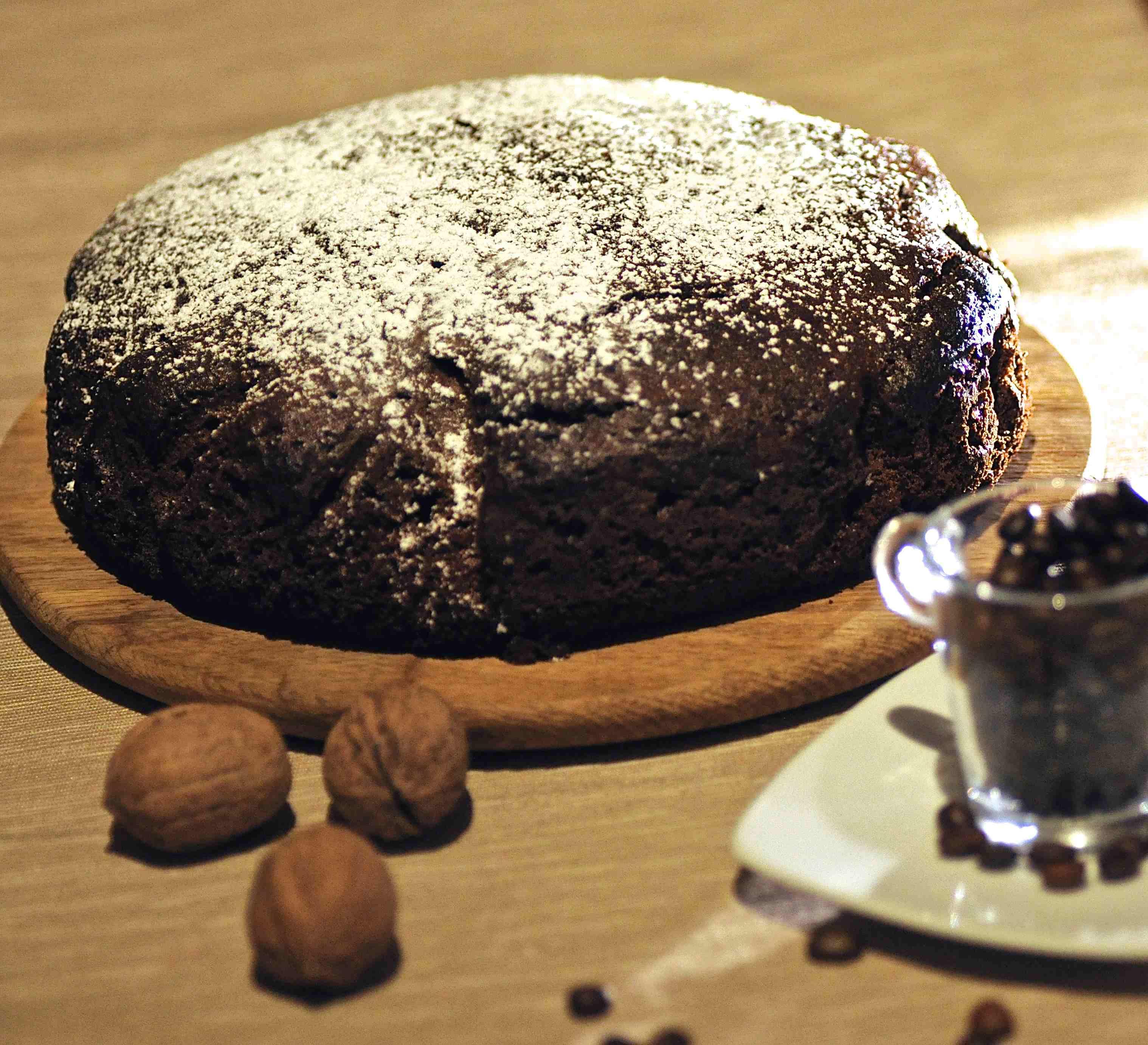torta noci e caffè bimby