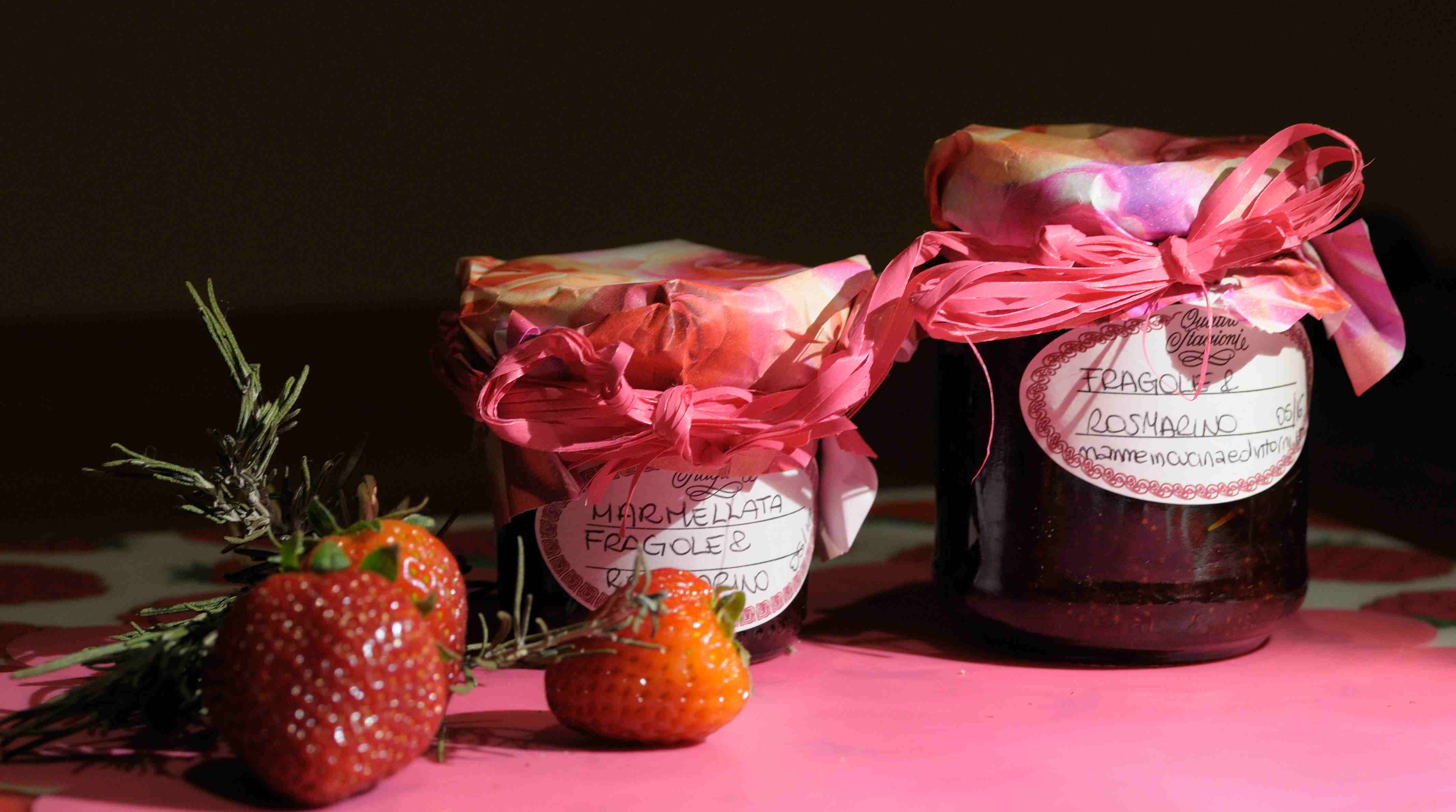 marmellata fragole e rosmarino