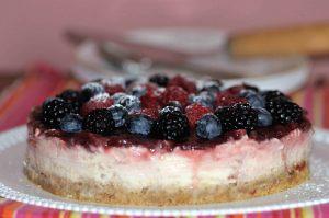 cheesecake fredda senza colla di pesce