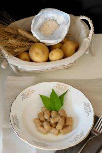 gnocchi di patate con farina di castagne