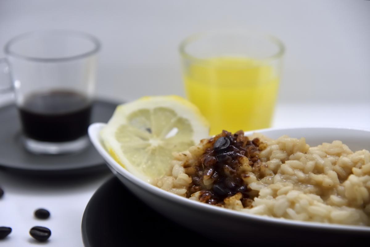 risotto al caffè e limone